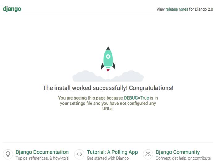 Django install confirmation graphic