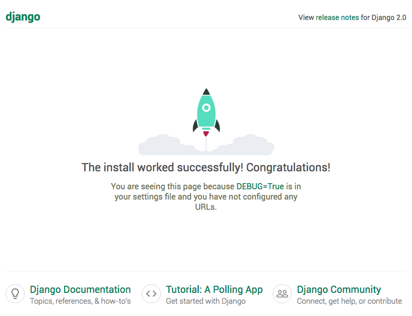 Django install confirmation graphic