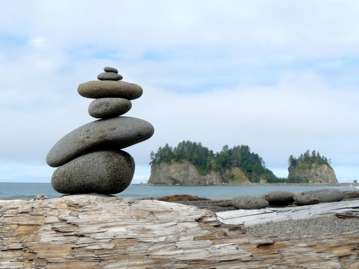 """Balance:"" First Beach at La Push, on Washington state's Olympic Peninsula."