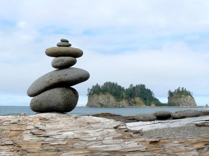 """""""Balance:"""" First Beach at La Push, on Washington state's Olympic Peninsula."""